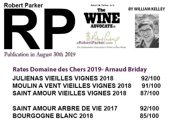 Vin rouge note Robert parker 2019