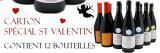 Carton 12 bouteilles Spécial Saint Valentin Juliénas, Saint Amour et Moulin à Vent